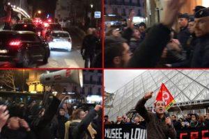 Демонстранти щурмуваха парижки театър за саморазправа с Еманюел Макрон (видео)