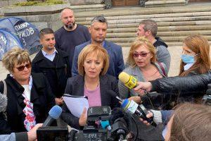 Манолова: Г-н Борисов, подарявам Ви готов закон за колекторите. Докажете, че не сте опънал политически чадър над тях!