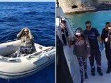 Новозеландка, изгубена в морето край гръцки остров, оцеля с ядене на бонбони (видео)